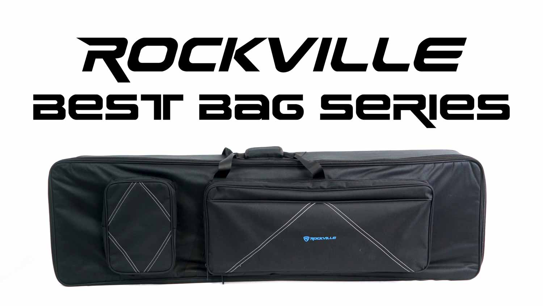 Rockville 61 Key Padded Rigid Durable Keyboard Gig Bag Case For YAMAHA MM6
