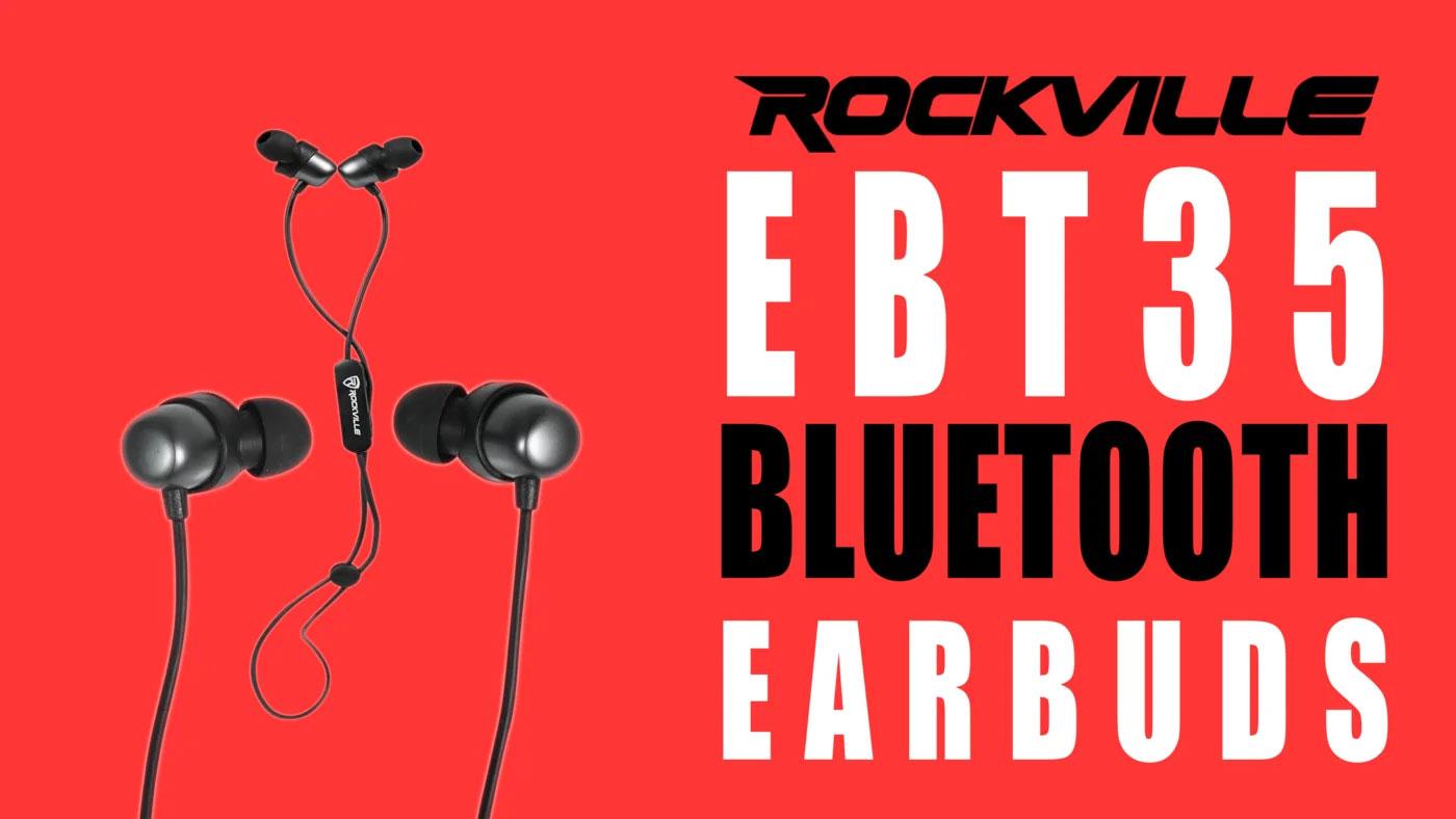 281ba34c624 Rockville EBT35 GunMetal Magnetic Bluetooth EarBuds In-Ear Sport Headphones/IPX5    Audio Savings