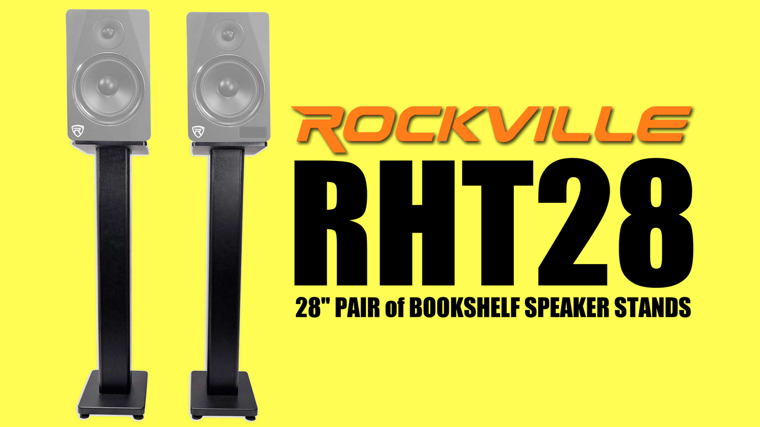 "Pair 26/"" Bookshelf Speaker Stands For Pair Klipsch RB-81 Bookshelf Speakers"