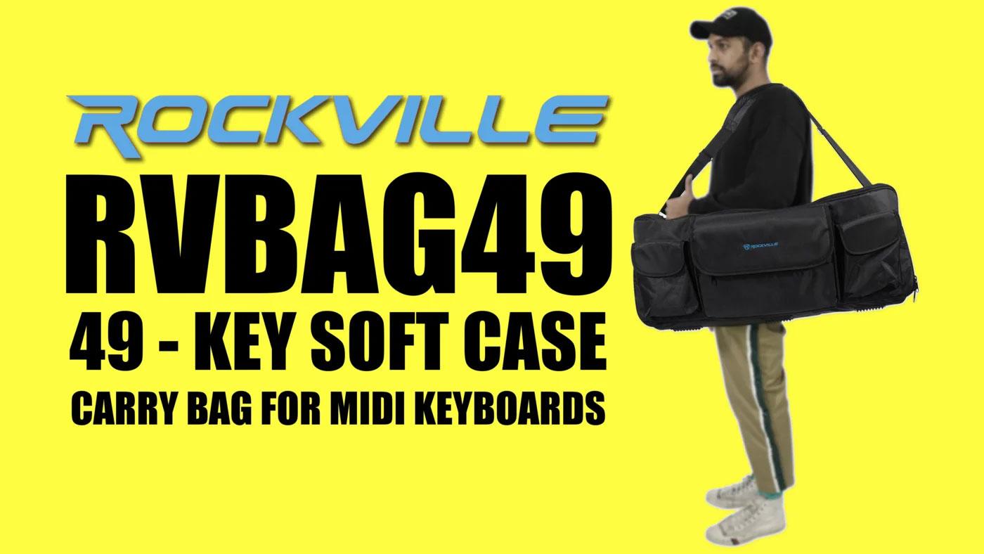 Rockville Carry Bag Backpack Case For Behringer UMX490 Keyboard Controller