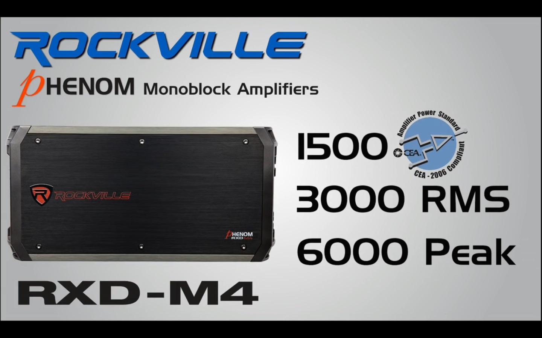 Rockville RXD-M4 6000 Watt//3000W RMS Mono Car Amplifier+100/% Copper Amp Wire Kit