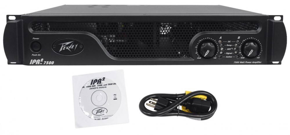 peavey ipr2 7500 watt pro power amplifier amp 4 10 3200w speakers headphones audio savings. Black Bedroom Furniture Sets. Home Design Ideas