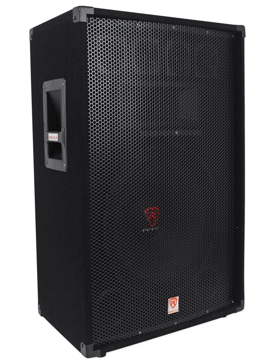 rockville rsg15 15 3 way 1500 watt 8 ohm passive dj pro audio pa speaker audio savings. Black Bedroom Furniture Sets. Home Design Ideas