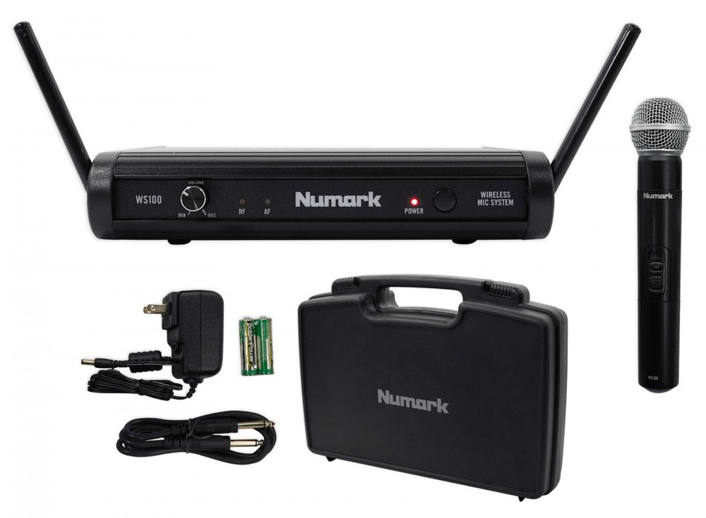 Numark Ws100 Digital Wireless Uhf Microphone System 1 4 Cable Case Headphones on sirius antenna outside