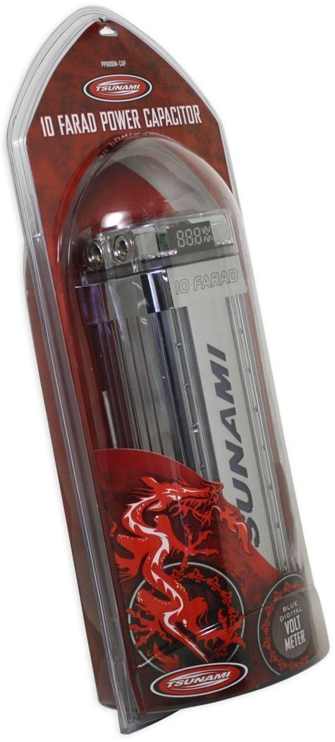 NEW TSUNAMI PP1010DM-CAP 10 FARAD CAR AUDIO CAPACITOR | Audio Savings
