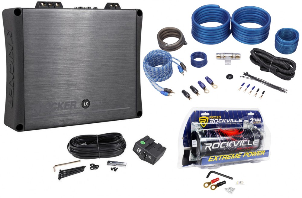 Kicker 11IX500 1 500w Mono Car Audio Class D Amplifier IX500 1+Amp