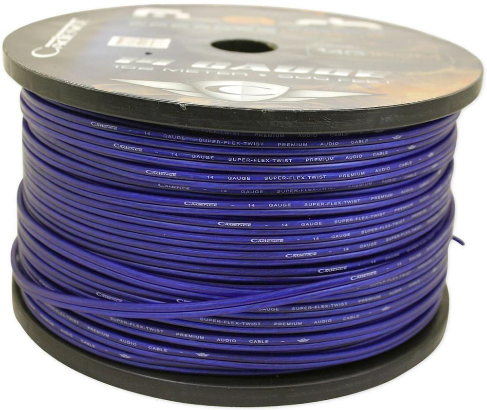 Cadence 14 AWG Gauge 150 Foot Blue Car Speaker Wire, True