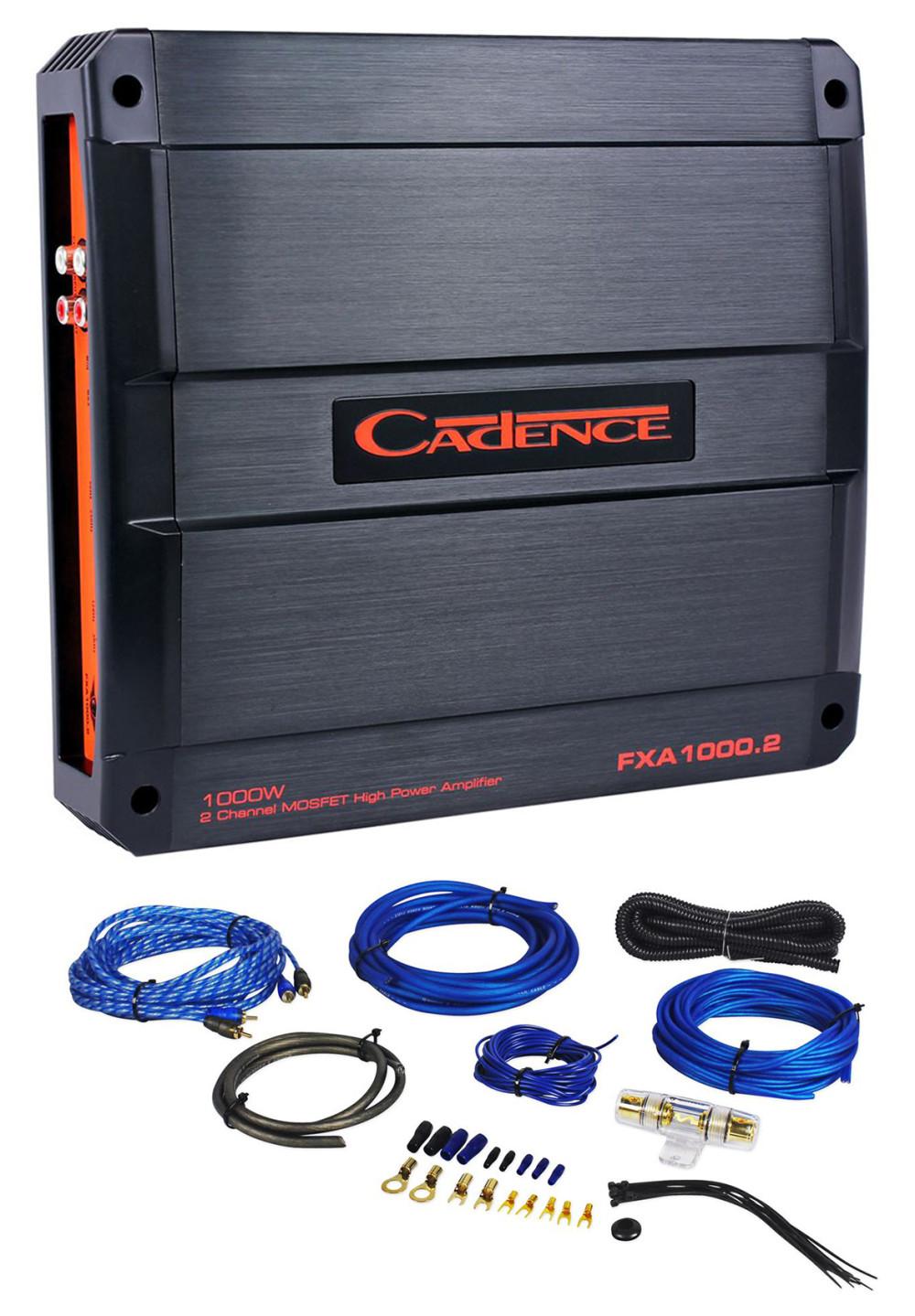 Cadence FXA1000 2 1000 Watt 2-Channel Car Audio Amplifier +