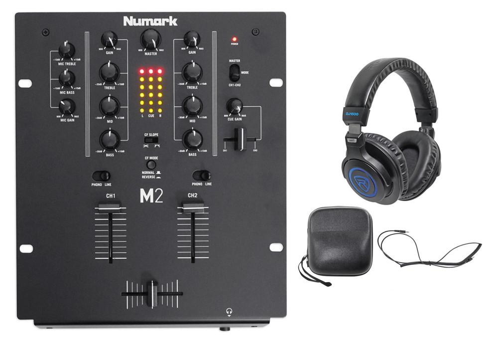 Numark M2 2-Channel DJ Scratch Mixer w/ 3-Band EQ, Black +