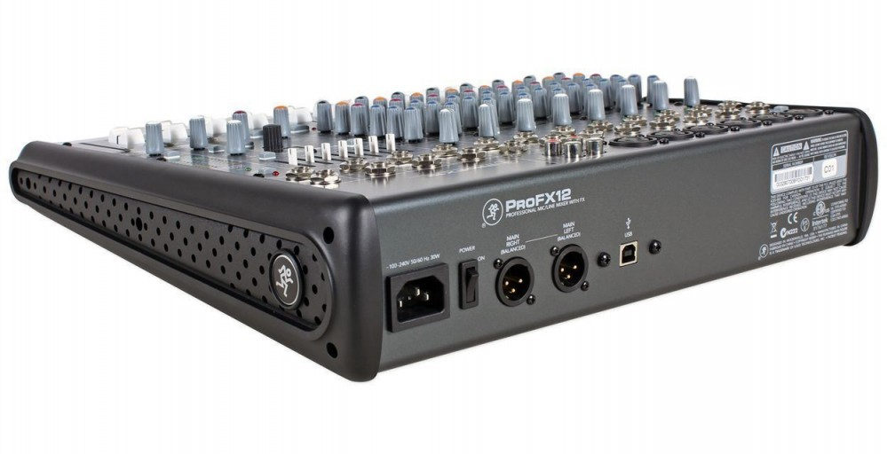 Mackie Profx 12 Pro 12 Channel Fx Usb Compact Mixer