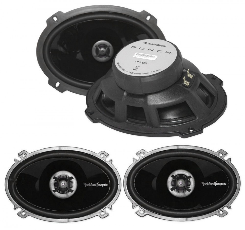 "Rockford Fosgate PUNCH P1462 140W 4/"" x 6/"" 2-Way Coaxial Car Stereo Speakers"