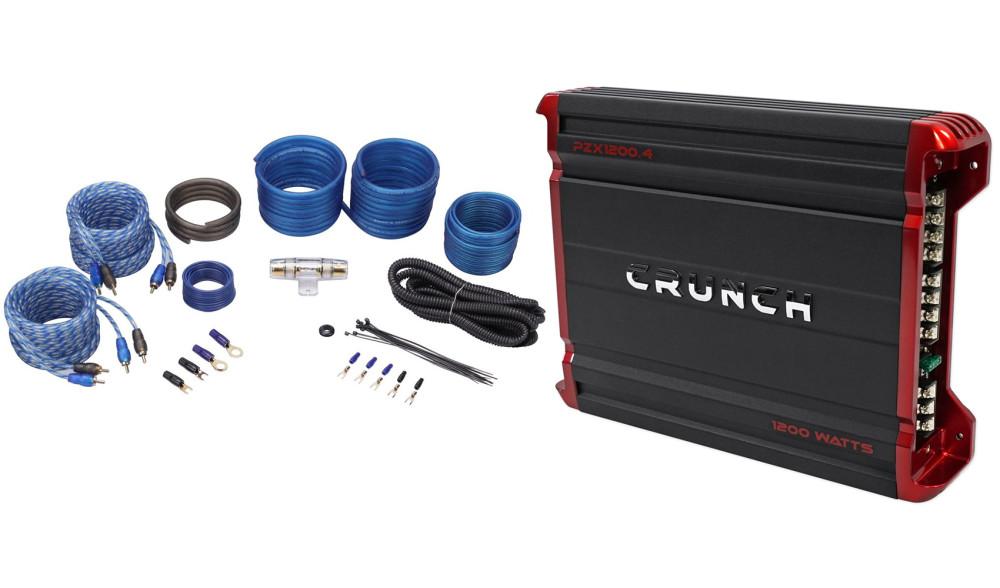 Crunch Pzx1200 4 1200 Watt 4 Channel Powerful Car Audio