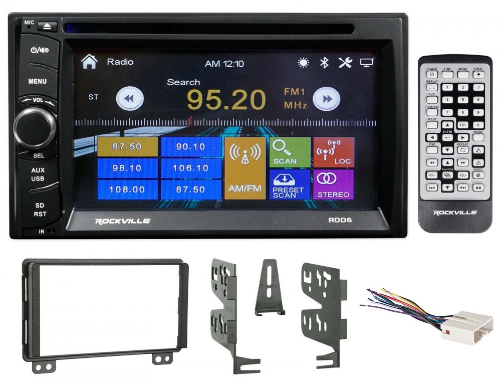 Planet Audio Car Radio Bluetooth 1 Din Dash Kit Harness For 95-up Ford Lincoln