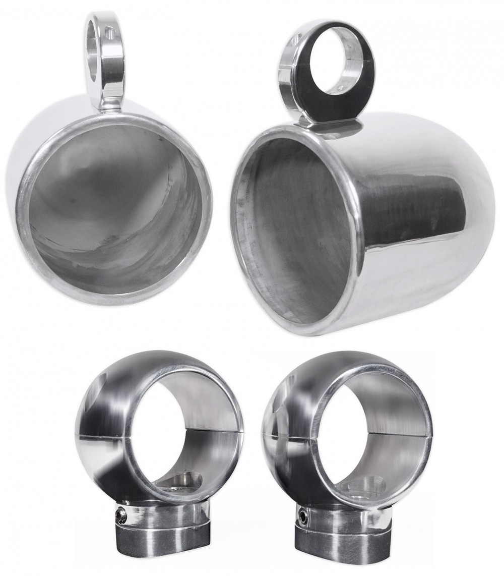 """8/"""" White Wakeboard Tower Enclosure Pods for Rockford Fosgate PM282H Speakers 2"""