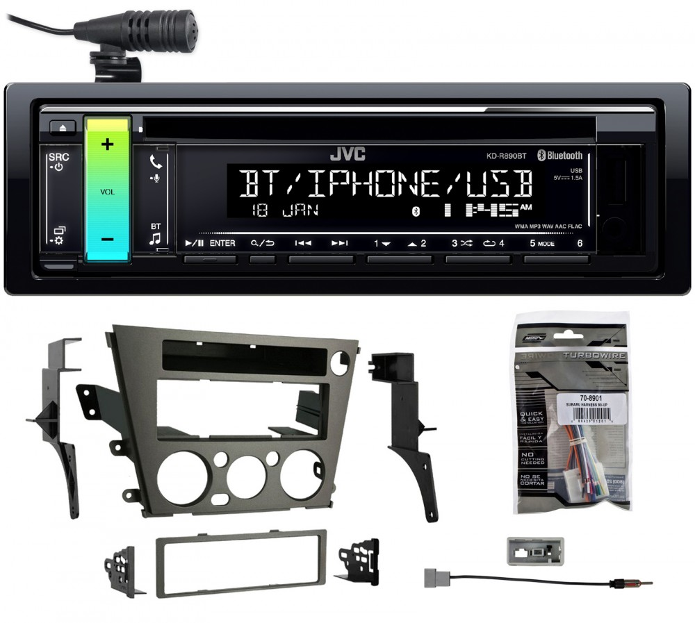 NEW JVC STEREO W BLUETOOTH /& FRONT USB//AUX W INSTALL KIT FOR 2005-2009 SUBARU