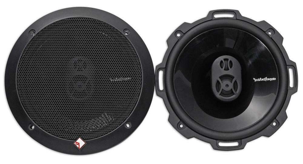 Pair Rockford Fosgate P1675 Punch 6.75 3-Way Full-Range Speaker