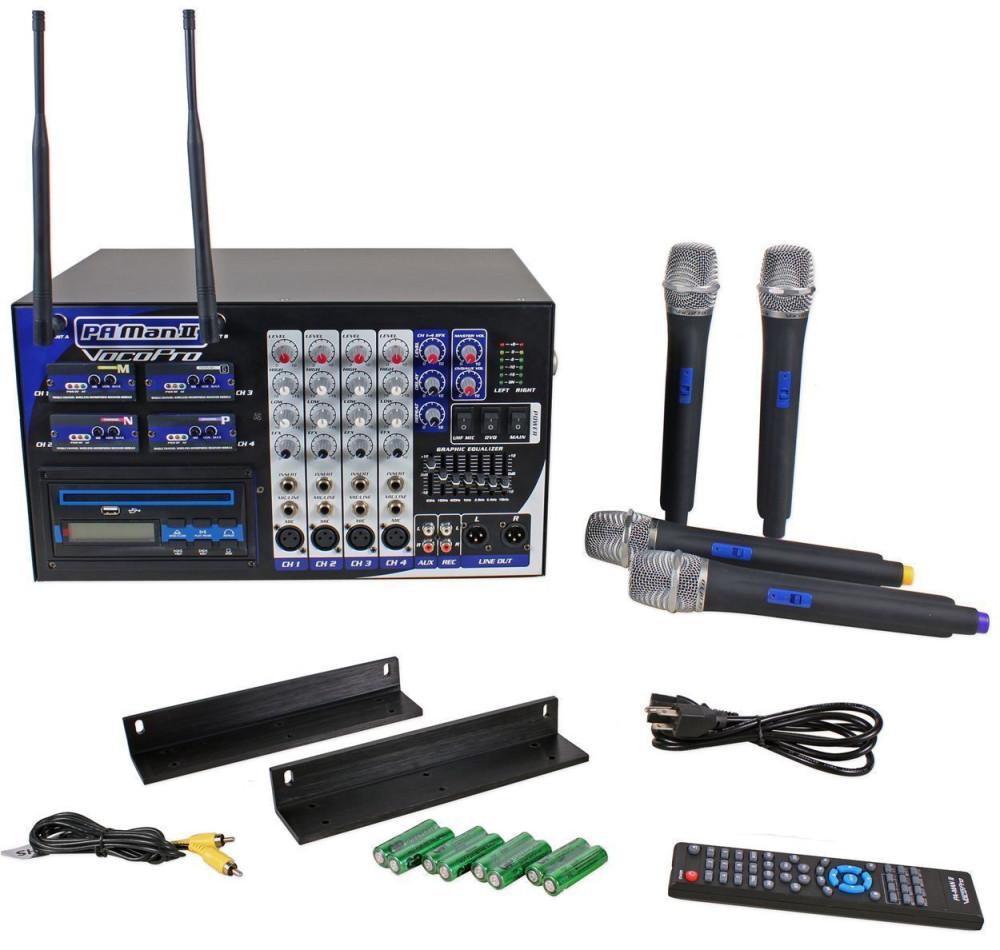 vocopro pa man ii 4 channel pa system karaoke machine cd g usb player mixer karaoke gear. Black Bedroom Furniture Sets. Home Design Ideas