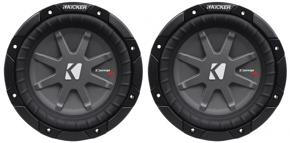 "2 KICKER 40CWRT81 CAR AUDIO 8/"" 1 OHM COMPRT SHALLOW SUBWOOFERS SUB WOOFERS PAIR"