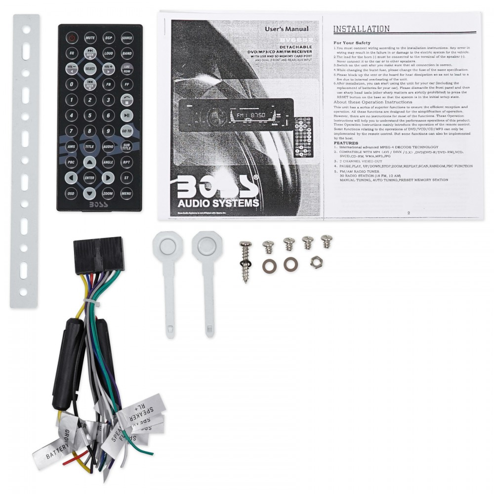 Boss Audio BV6652 In-Dash Car DVD/MP3/CD/AM/FM Receiver