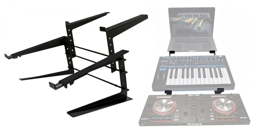 Rockville Dual Laptop+Controller Stand for M-Audio Oxygen 49 MK IV ...