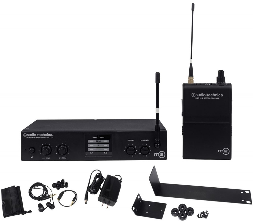 audio technica m2 l live sound wireless in ear audio monitor system headphones audio savings. Black Bedroom Furniture Sets. Home Design Ideas