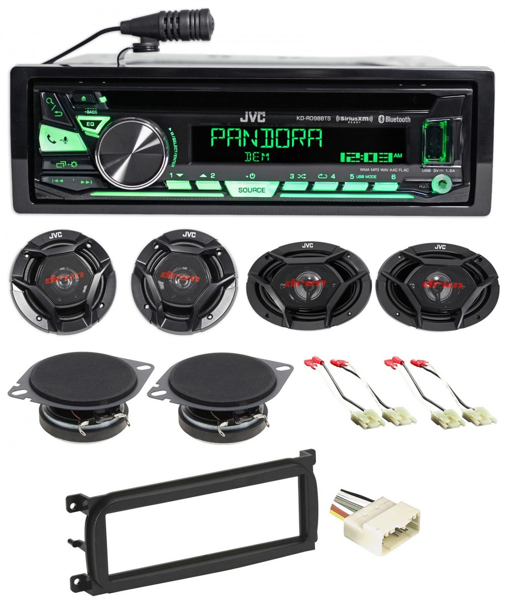 NEW JVC KD-RD97BT AM//FM//CD Single DIN Car Stereo w// Bluetooth