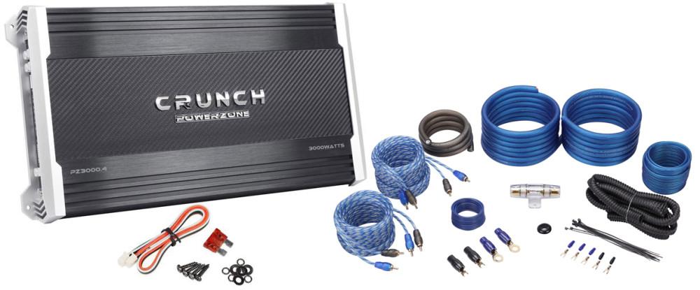 Crunch PZ3000 4 3,000 Watt 4-Channel Amplifier + Car Amp