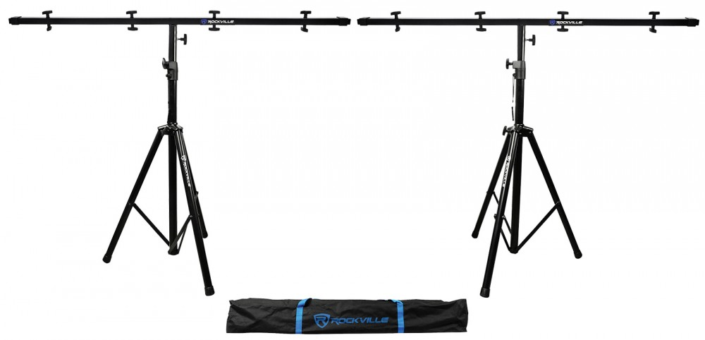 2 Rockville Tripod Black Heavy Duty Pole Mount Stands