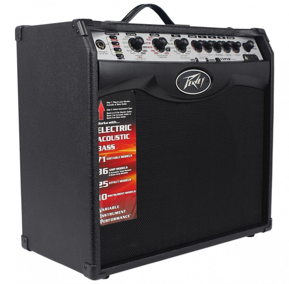 peavey vypyr vip 2 40 watt 1x12 combo guitar amplifier w amp modelling midi guitar products. Black Bedroom Furniture Sets. Home Design Ideas