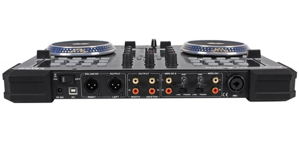 american audio vms2 usb midi dj controller with touch scratch wheel vms702 controllers dj. Black Bedroom Furniture Sets. Home Design Ideas
