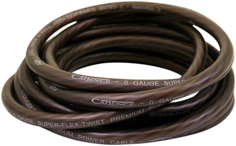 Cadence 0G100-BLACK 0 Gauge 17 Feet Car Amp Power Wire Cool ... on