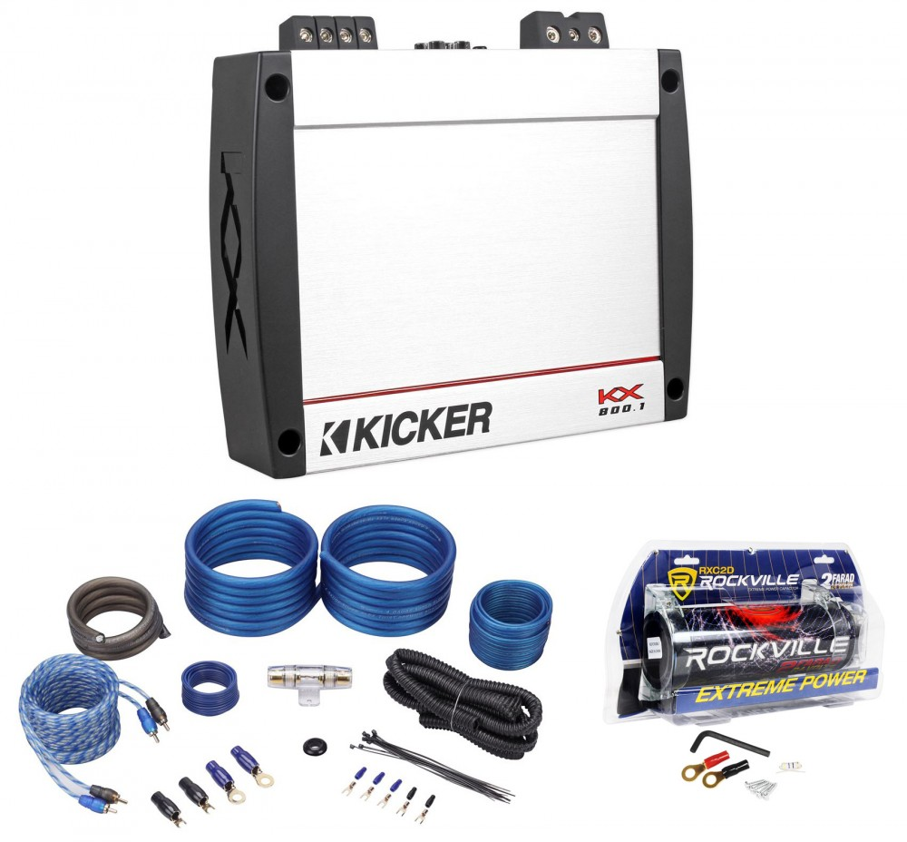 Kicker 40KX8001 KX800 1 KX 800w RMS Mono Car Audio Amplifier