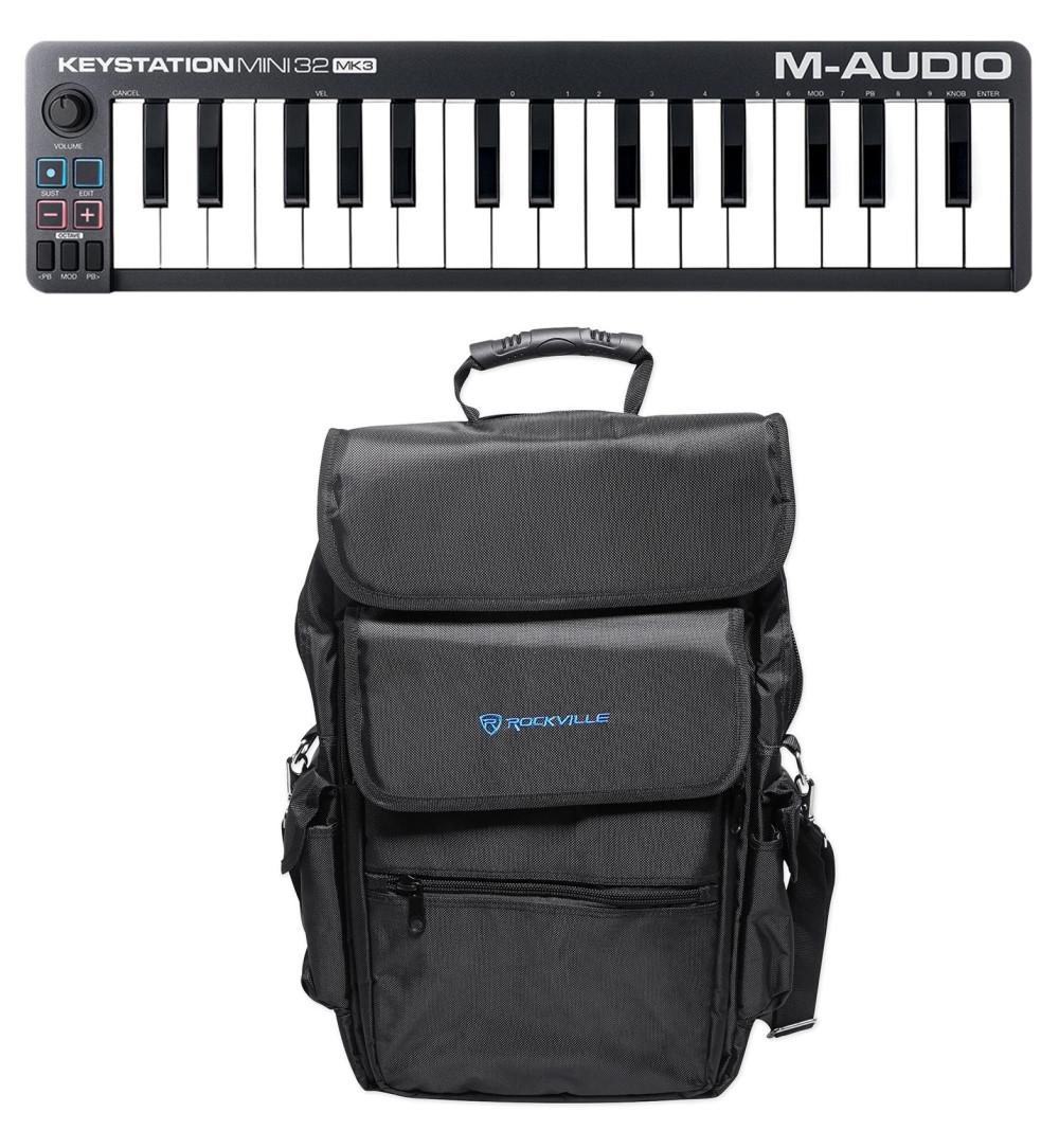 M-Audio KEYSTATION MINI 32 III 32-Key MIDI USB Keyboard Controller +