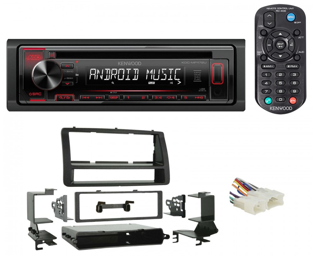 KENWOOD KDC-MP172U IN-DASH CAR CD PLAYER RECEIVER W// USB//IPHONE//ANDROID//IHEART