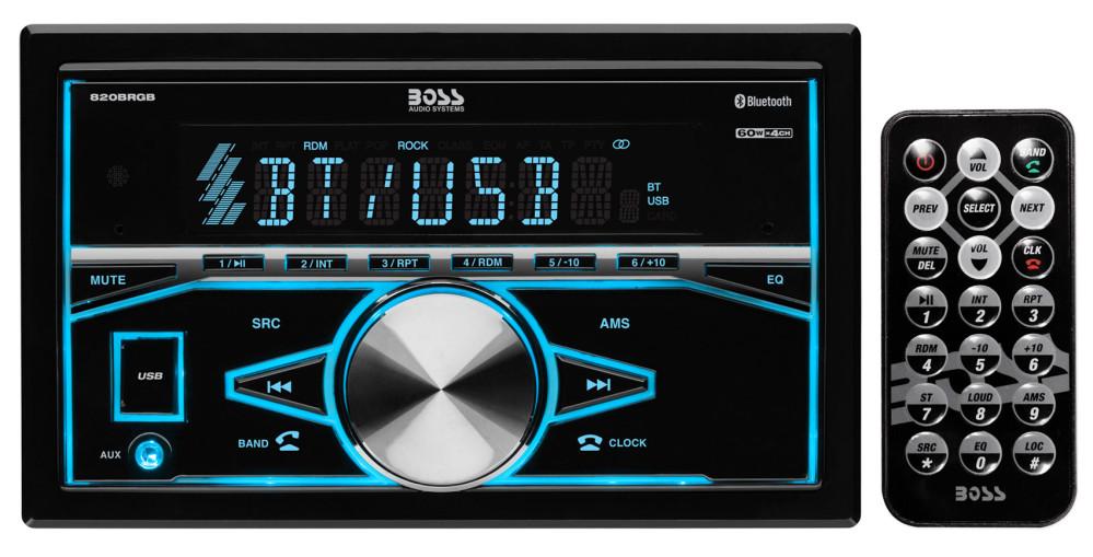 Boss 820BRGB In-Dash Bluetooth Car Digital Media Receiver w