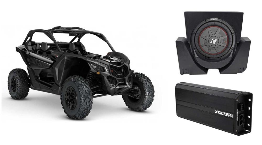 Kicker 42PXA500.1 500w Mono Amp for Polaris//Motorcycle//ATV//UTV//RZR//Cart+Kit