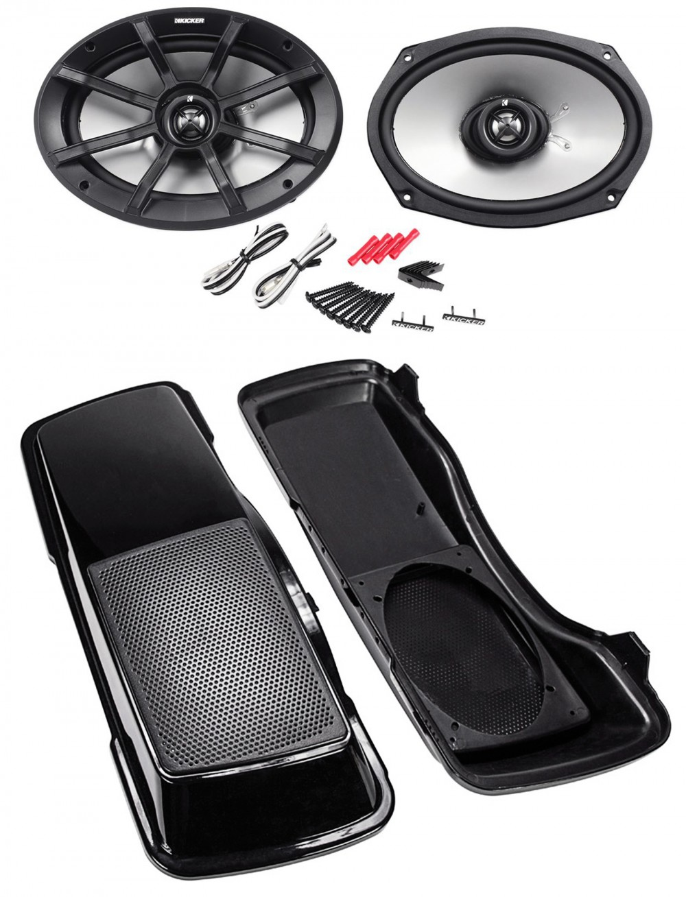 Kicker Pair of Kicker 6x9 180 Watts Peak//90 Watts RMS 2-Ohm ATV//Motorcycle Speakers