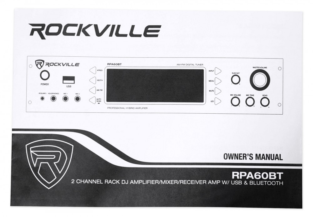 "Rockville RMDPR10B 10/' Dual 1//4/"" TS to Dual RCA Cable 100/% Copper"