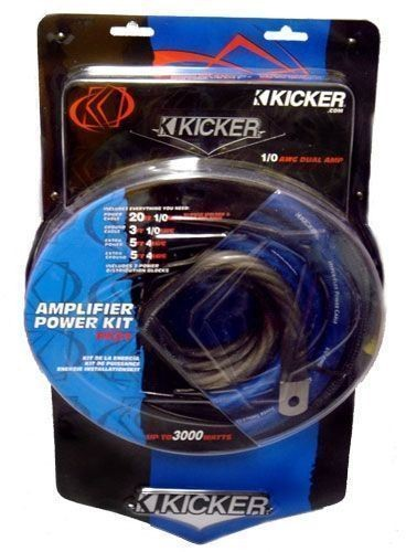 KICKER 1/0 GAUGE 6000w DUAL AMP WIRING INSTALL CAR KIT ... on rockford fosgate wiring kit, jl audio wiring kit, kicker amp with 8, 0 gauge amp kit,