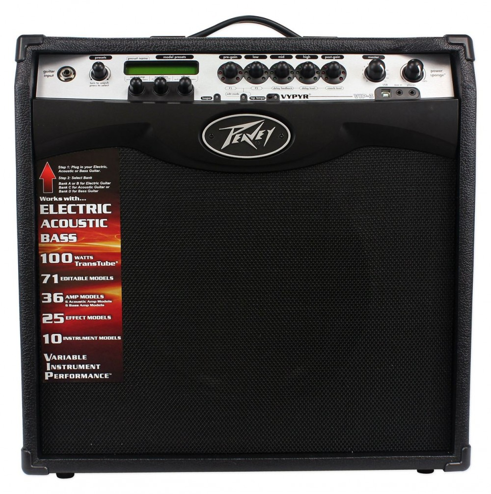 peavey vypyr vip 3 100 watt 12 combo guitar amp w amp modelling pedalboard audio savings. Black Bedroom Furniture Sets. Home Design Ideas