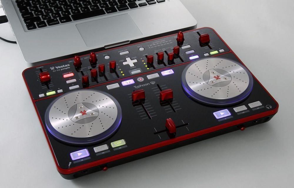 Vestax Typhoon DJ USB Midi Controller Interface with Traktor