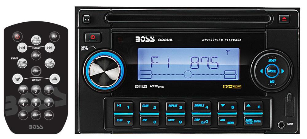 Boss 822UA 2 Din Car Stereo CD/MP3/USB/SD/AM/FM Receiver