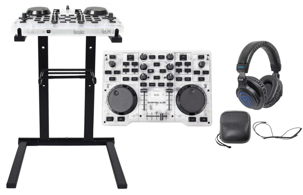 Hercules DJControl Glow USB 2-Deck DJ Controller w/Mixer+