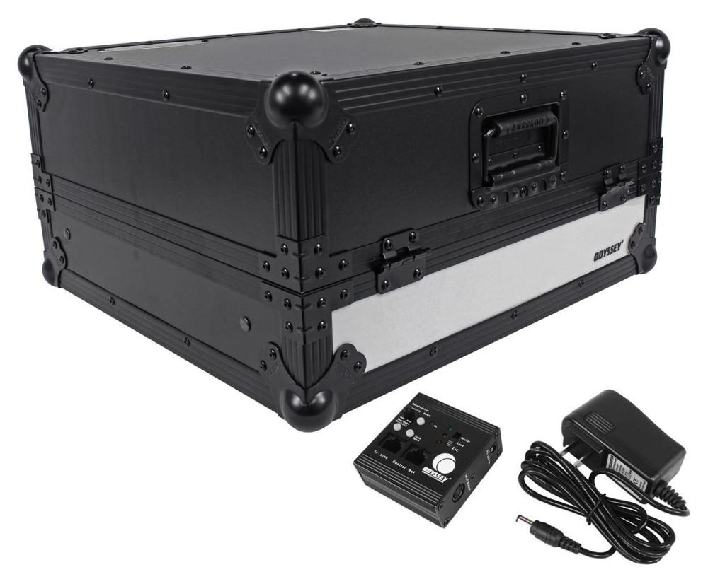 odyssey ffxgs10bl flight fx 10u space 19 mobile dj mixer case w laptop shelf dj equipment. Black Bedroom Furniture Sets. Home Design Ideas