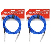 """18 Rockville RCGT10B 10/'  1//4/"""" TS to 1//4/'/' TS Guitar//Instrument Cable"""