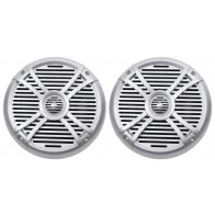 "Pair Rockville RMSTS80S 8/"" 1000w Waterproof Marine Boat Speakers 2-Way Silver"