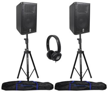 "2) Yamaha DXR10 10"" 1100W Bi-Amped Powered Speakers+"