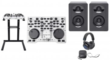 Hercules DJControl Glow USB DJ Controller Mixer+Lights+Stand