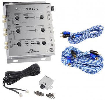 Hifonics HFXR 3-Way Active Crossover With Remote + 17' + 6