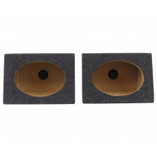 "Rockville RS6x9PR (2) Car Audio 6x9 Wedge Sealed Speaker Enclosures, 3/4"" MDF"